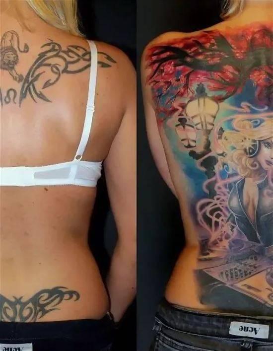 исправление косяков тату фото до и после маточных труб