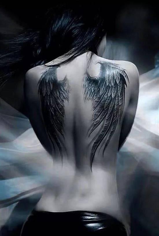 Картинка девушка ангел со спины