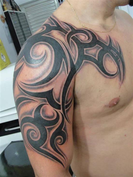 фото тату от локтя до шеи необычных